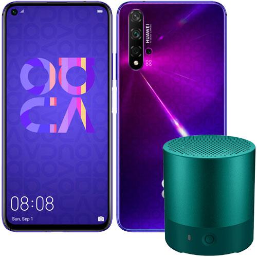 ファーウェイ(Huawei) ★お得なミニスピーカーセット★Nova5T/MidsummerPurple [Nova 5T/Mid Purple/+Mini Speakerグリーン]