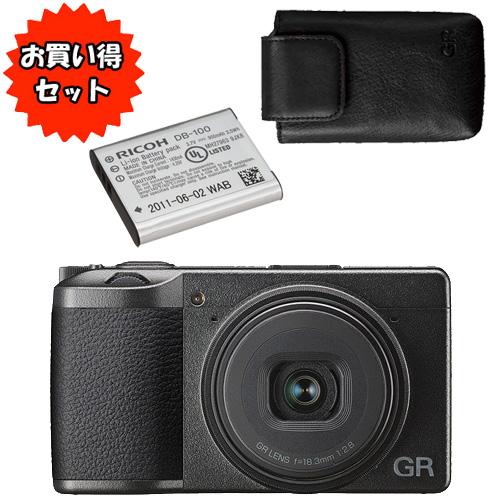 ★お買得セット★GR III & 充電式バッテリー DB-110 & ソフトケース GC-10