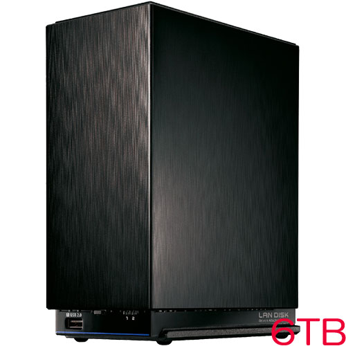 アイオーデータ HDL2-AAX HDL2-AAX6 [デュアルコアCPU搭載 NAS 2ドライブモデル 6TB]