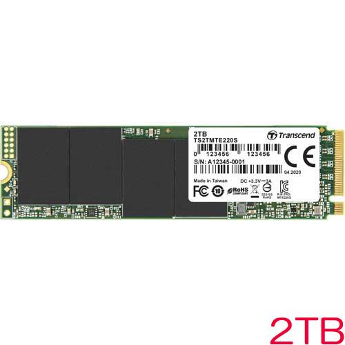 TS2TMTE220S [2TB PCIe SSD 220S M.2(2280)、NVMe PCIe Gen3 x4、3D NAND、DRAMキャッシュ、5年保証]