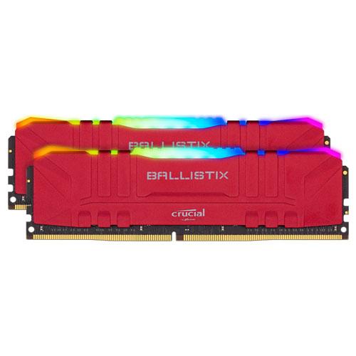 クルーシャル BL2K32G32C16U4RL [Ballistix RGB 64GB Kit (32GBx2) DDR4 3200MT/s (PC4-25600) CL16 UDIMM 288pin Red]
