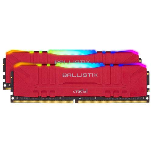 クルーシャル BL2K8G30C15U4RL [Ballistix RGB 16GB Kit (8GBx2) DDR4 3000MT/s (PC4-24000)/s CL15 UDIMM 288pin Red]