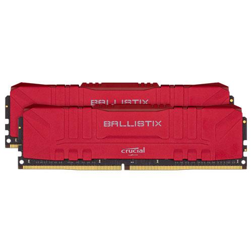 クルーシャル BL2K8G32C16U4R [Ballistix 16GB Kit (8GBx2) DDR4 3200MT/s (PC4-25600) CL16 UDIMM 288pin Red]