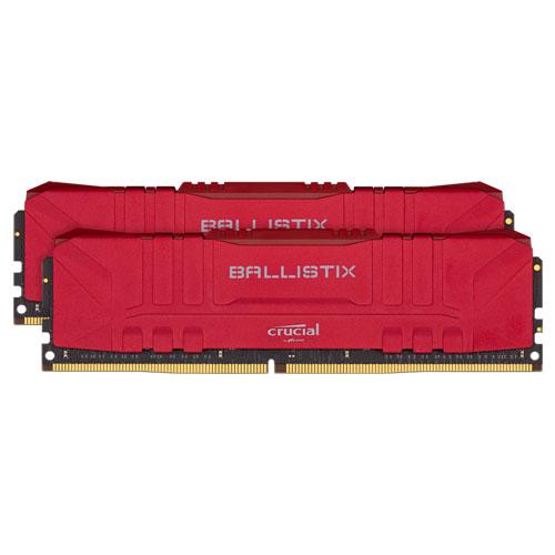 クルーシャル BL2K16G30C15U4R [Ballistix 32GB Kit (16GBx2) DDR4 3000MT/s (PC4-24000)/s CL15 UDIMM 288pin Red]