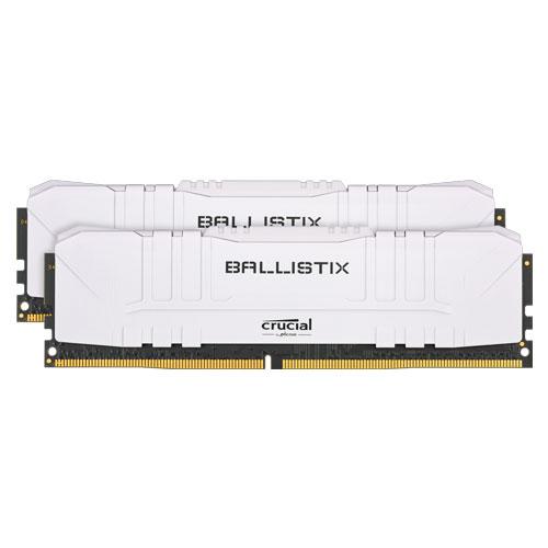 クルーシャル BL2K8G32C16U4W [Ballistix 16GB Kit (8GBx2) DDR4 3200MT/s (PC4-25600) CL16 UDIMM 288pin White]
