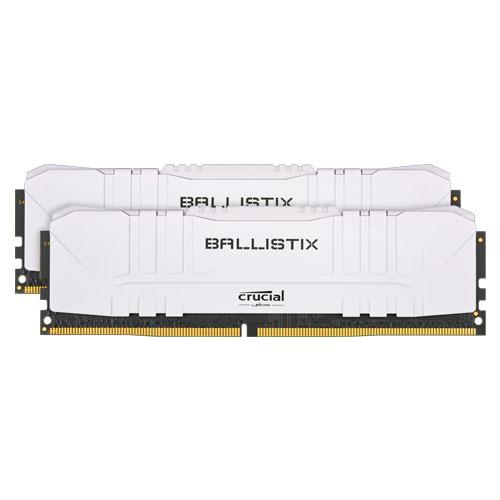 クルーシャル BL2K8G26C16U4W [Ballistix 16GB Kit (8GBx2) DDR4 2666MT/s (PC4-21300) CL16 UDIMM 288pin White]