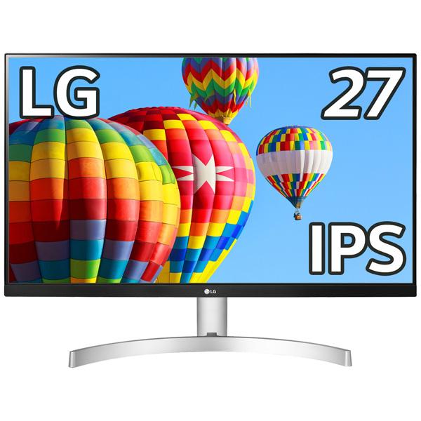 LG電子ジャパン ML600 27ML600S-W [27型フルHD3辺フレームレス液晶ディスプレイ(IPS)]
