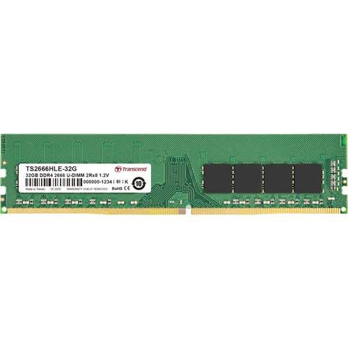 トランセンド TS2666HLE-32G [32GB DDR4 2666 Unbuffered Long-DIMM 2Rx8 (2Gx8) CL19 1.2V 288pin]