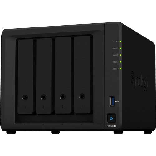 DS920+ [DiskStation 4ベイ NAS 4コアCeleron J4125 4GBメモリ GbEx2 SATA対応]