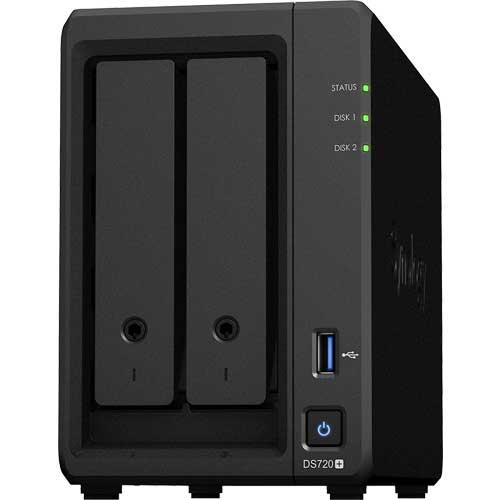 Synology DS720+ [DiskStation 2ベイ NAS 4コアCeleron J4125 2GBメモリ GbEx2 SATA対応]