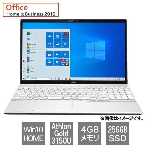 富士通 FMVA42E1W1 [LIFEBOOK AH42/E1 (Athlon Gold 3150U 4GB SSD256GB SM Win10Home64 15.6 H&B2019 ホワイト]
