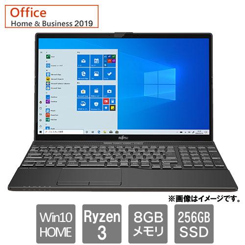 富士通 FMVA43E1B [LIFEBOOK AH43/E1 (Ryzen 3 8GB SSD256GB Win10Home64 15.6 H&B2019 ブライトブラック]