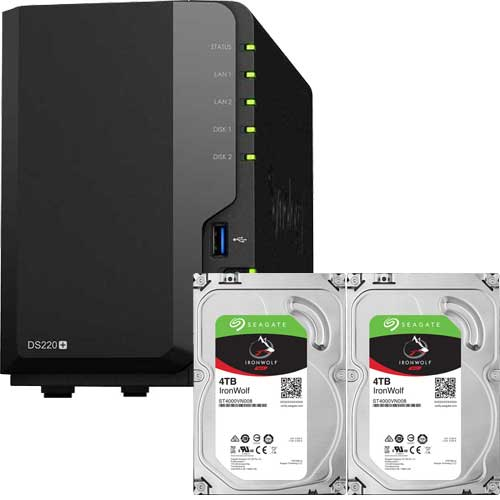 DS220+-SI4T2A [DiskStation DS220+ + Seagate IronWolf 4TB ST4000VN008×2台 SET]