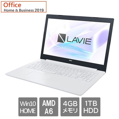 NEC ★周年祭特価★PC-SN26VPDDF-D [LAVIE Smart NS(A6-9225 HDD1TB 15.6FHD H&B2019 Win10 WH)]