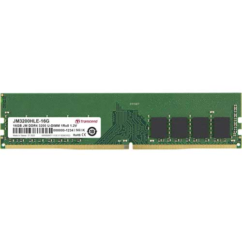 JM3200HLE-16G [16GB JetRam DDR4 3200 U-DIMM 1Rx8 (2Gx8) CL22 1.2V]