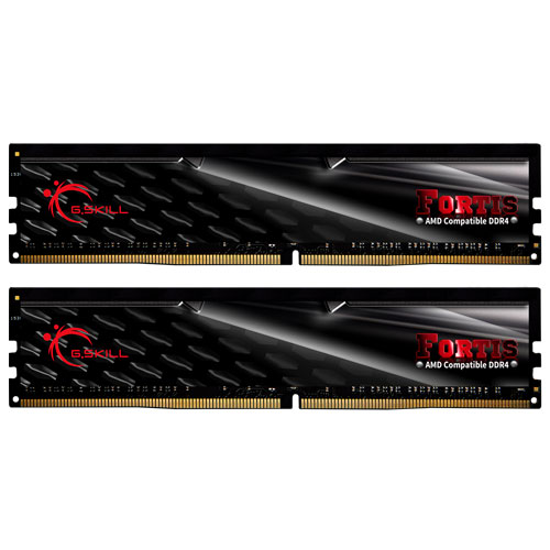 G.SKILL F4-2400C15D-16GFT [Fortis (For AMD) 16GB (8GBx2) DDR4 2400MHz (PC4-19200) CL15-15-15-39 1.20V]