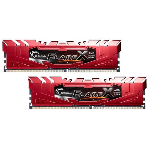 G.SKILL F4-2400C15D-16GFXR [Flare X (For AMD) 16GB (8GBx2) DDR4 2400MHz (PC4-19200) CL15-15-15-39 1.20V Red]