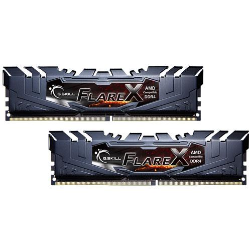 G.SKILL F4-2400C15D-16GFX [Flare X (For AMD) 16GB (8GBx2) DDR4 2400MHz (PC4-19200) CL15-15-15-39 1.20V]