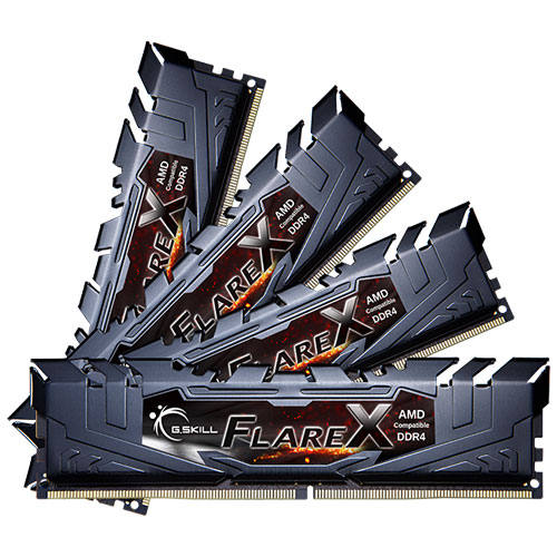 G.SKILL F4-2133C15Q-64GFX [Flare X (For AMD) 64GB (16GBx4) DDR4 2133MHz (PC4-17000) CL15-15-15-36 1.20V]