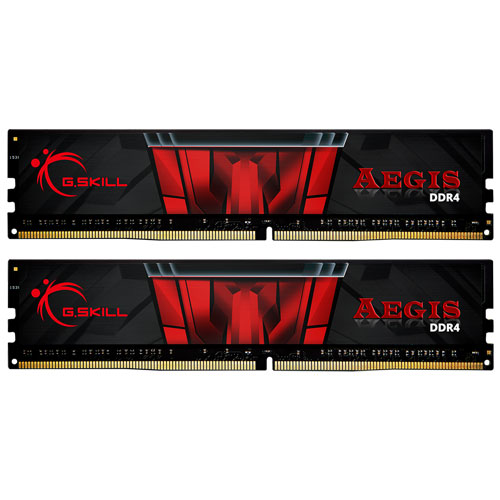 G.SKILL F4-2400C15D-16GIS [Aegis 16GB (8GBx2) DDR4 2400MHz (PC4-19200) CL15-15-15-35 1.20V]