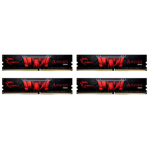 G.SKILL F4-2400C15Q-16GIS [Aegis 16GB (4GBx4) DDR4 2400MHz (PC4-19200) CL15-15-15-35 1.20V]