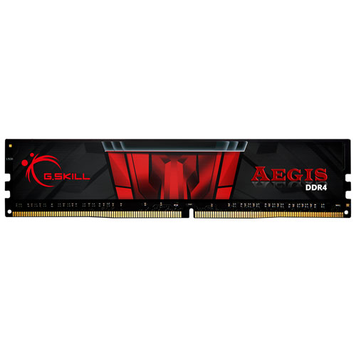 G.SKILL F4-2400C15S-4GIS [Aegis 4GB (4GBx1) DDR4 2400MHz (PC4-19200) CL15-15-15-35 1.20V]