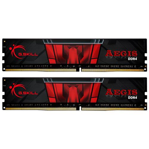 G.SKILL F4-2400C17D-8GIS [Aegis 8GB (4GBx2) DDR4 2400MHz (PC4-19200) CL17-17-17-39 1.20V]