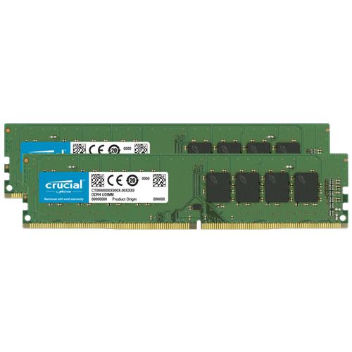 クルーシャル CT2K16G4DFS8266 [32GB Kit (16GBx2) DDR4 2666 MT/s (PC4-21300) CL19 SR x8 Unbuffered DIMM 288pin]