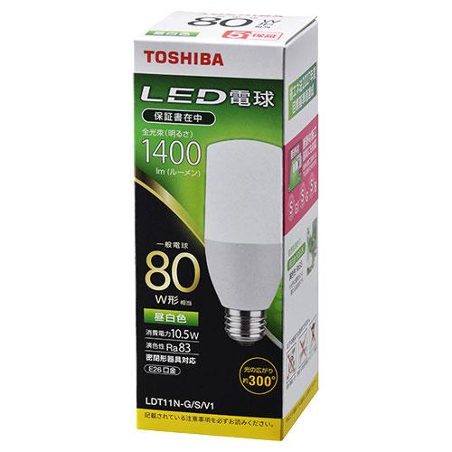 東芝 LDT11N-G/S/V1 [LED電球 T形E26 300度 80W相当 昼白色]