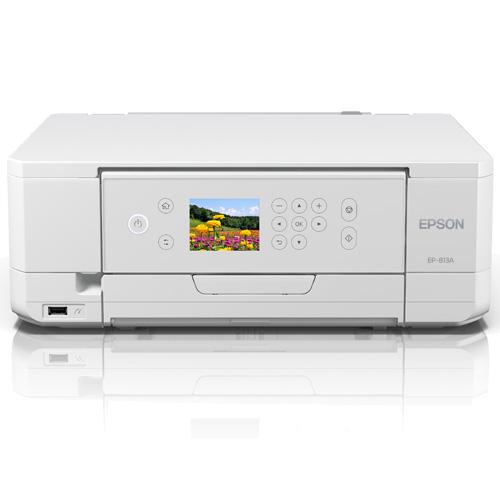 エプソン EP-813A [A4カラーインクジェット複合機/Colorio/6色/無線LAN/Wi-Fi Direct/両面/2.7型液晶]