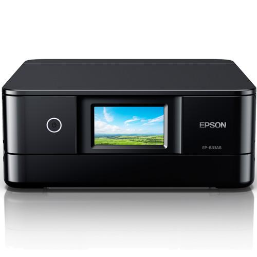 エプソン EP-883AB [A4カラーインクジェット複合機/無線LAN/Wi-Fi Direct/両面/4.3型ワイドタッチパネル/ブラック]