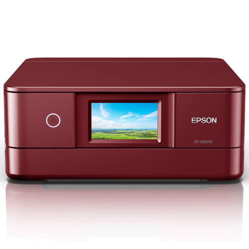 エプソン EP-883AR [A4カラーインクジェット複合機/無線LAN/Wi-Fi Direct/両面/4.3型ワイドタッチパネル/レッド]