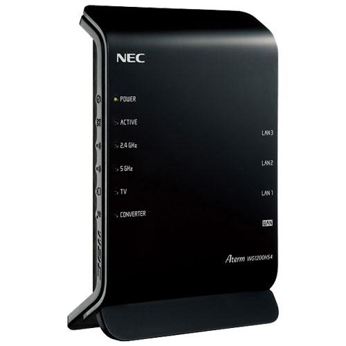 NEC PA-WG1200HS4 [Aterm WG1200HS4 WiFi5 11ac/n/a/g./b 867+300Mbps]