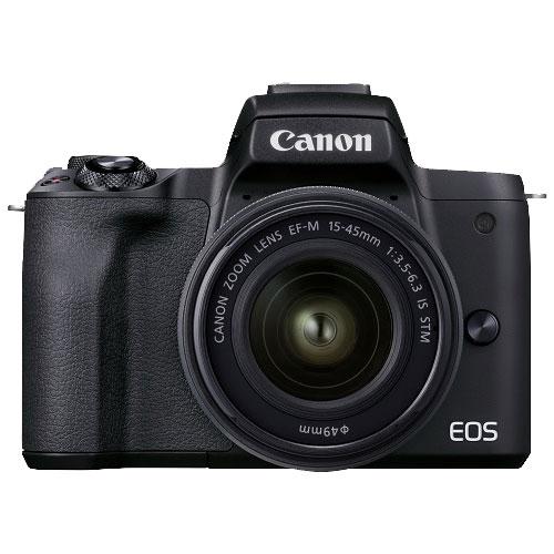 ミラーレスカメラ EOS Kiss M2 EF-M15-45 IS STM レンズキット ブラック