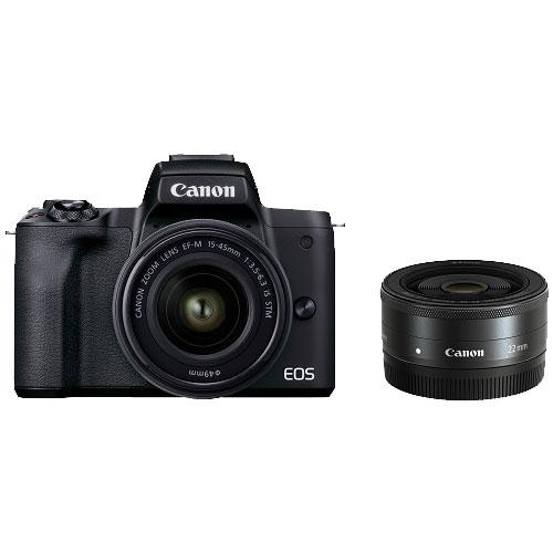 ミラーレスカメラ EOS Kiss M2 ダブルレンズキット ブラック