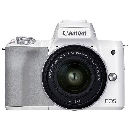 ミラーレスカメラ EOS Kiss M2 EF-M15-45 IS STM レンズキット ホワイト
