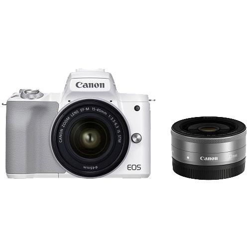 ミラーレスカメラ EOS Kiss M2 ダブルレンズキット ホワイト