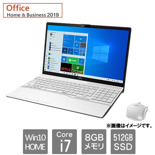 富士通 FMVA53E3W [LIFEBOOK AH53/E3 (Core i7 8GB SSD512GB Win10Home64 H&B2019 15.6 プレミアムホワイト)]