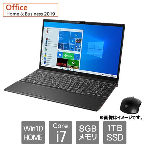富士通 FMVA77E3B [LIFEBOOK AH77/E3 (Core i7 8GB SSD1TB Win10Home64 15.6 H&B2019 ブライトブラック)]
