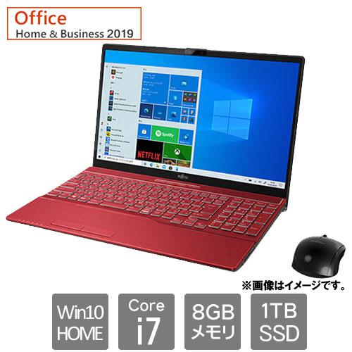 富士通 FMVA77E3R [LIFEBOOK AH77/E3 (Core i7 8GB SSD1TB Win10Home64 15.6 H&B2019 ガーネットレッド)]