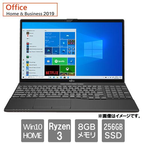 富士通 FMVA43E3B [LIFEBOOK AH43/E3 (Ryzen 3 8GB SSD256GB Win10Home64 15.6 H&B2019 ブライトブラック)]