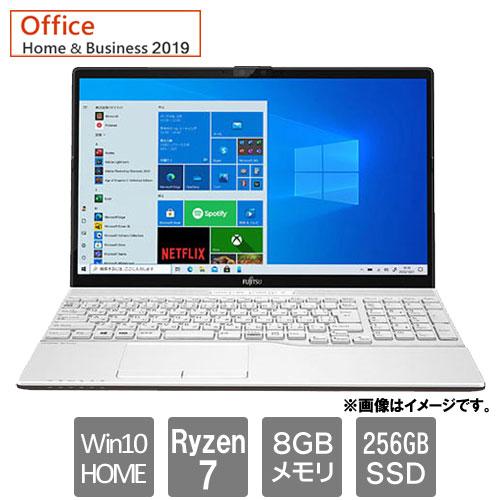 富士通 FMVA50E3W [LIFEBOOK AH50/E3 (Ryzen 7 8GB SSD256GB Win10Home64 15.6 H&B2019 プレミアムホワイト]