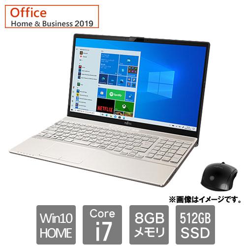 富士通 FMVA53E3G [LIFEBOOK AH53/E3 (Core i7 8GB SSD512GB Win10Home64 H&B2019 15.6 シャンパンゴールド)]