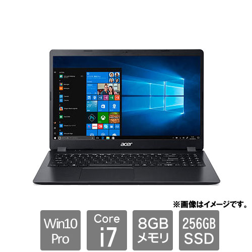エイサー Extensa [EX215-52-A78U (Core i7-1065G7 8GB SSD256GB 15.6FHD Win10Pro64 OFなし ブラック)]