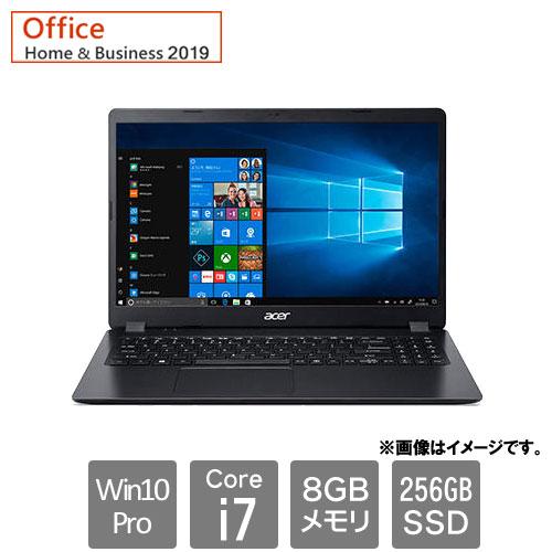 エイサー Extensa [EX215-52-A78UB9 (Core i7-1065G7 8GB SSD256GB 15.6FHD Win10roP64 H&B2019 ブラック)]