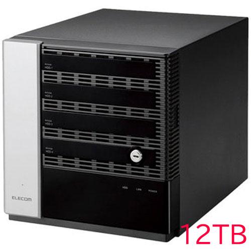 エレコム KTB-75S12T4DW6 [キッティング/設定/WSS2016 Wg NAS/4Bay/12TB]