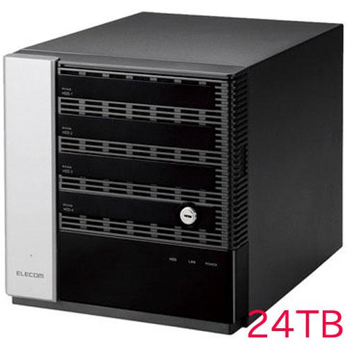 エレコム KTB-75S24T4DW6 [キッティング/設定/WSS2016 Wg NAS/4Bay/24TB]