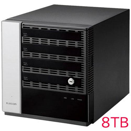 エレコム KTB-75S8T4DW6 [キッティング/設定/WSS2016 Wg NAS/4Bay/8TB]