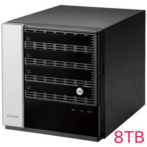 エレコム KTC-75S8T4DW6 [キッティング/設定/WSS2016 Wg NAS/4Bay/8TB]