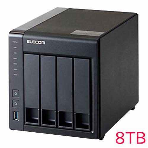 エレコム KTC-7A8T4BL [キッティング/設定/LinuxNAS/4Bay2D版/8TB]